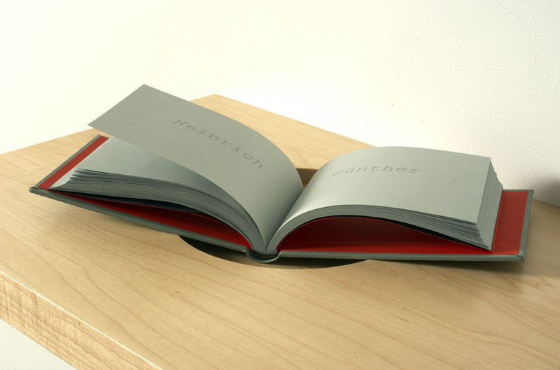 Bronia Iwanczak, We Knew Each Other (page detail from bound book), 2004. Courtesy the artist