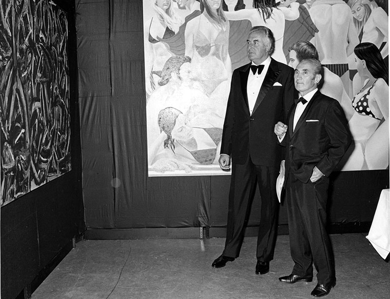 The Hon. (Edward) Gough Whitlam PM and Franco-Belgiorno-Nettis at the opening of the inaugural Biennale of Sydney  (1973) . Courtesy Biennale of Sydney