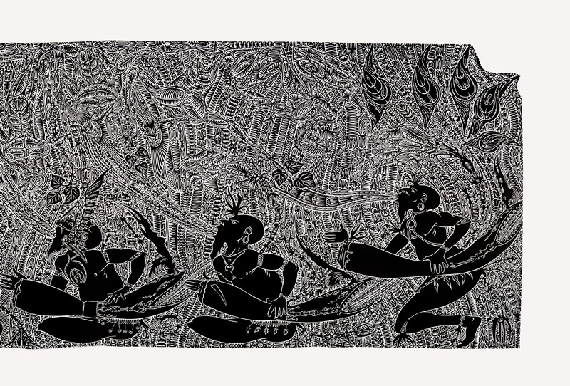 Alick Tipoti, Girelal, 2011, linocut, Studio Editions, Tremblay NFP, Cairns