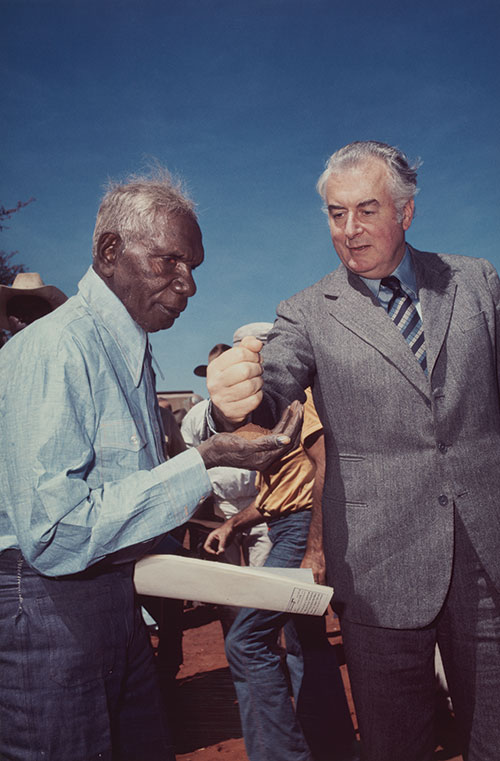 Mervyn Bishop, Gough Whitlam and Vincent Lingiari