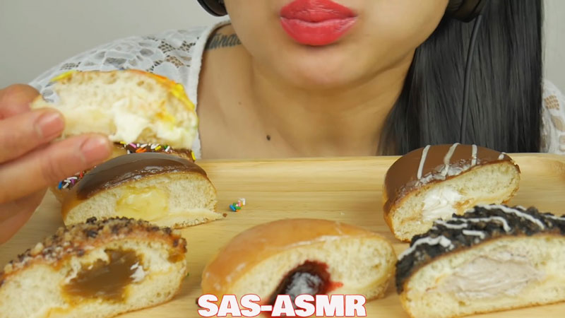 SAS ASMR, Krispy Kream Donuts (Soft Eating Sounds), 2019 Photo courtesy Francis Russell