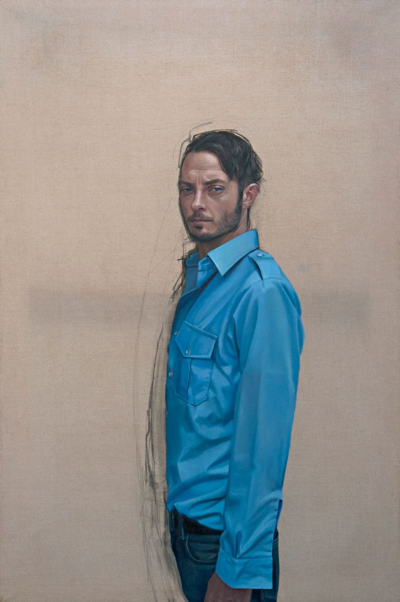Yvette Coppersmith, Forever in Blue Jeans from the Blue Series (2007), oil on linen, private collection. Courtesy Arts Project Australia