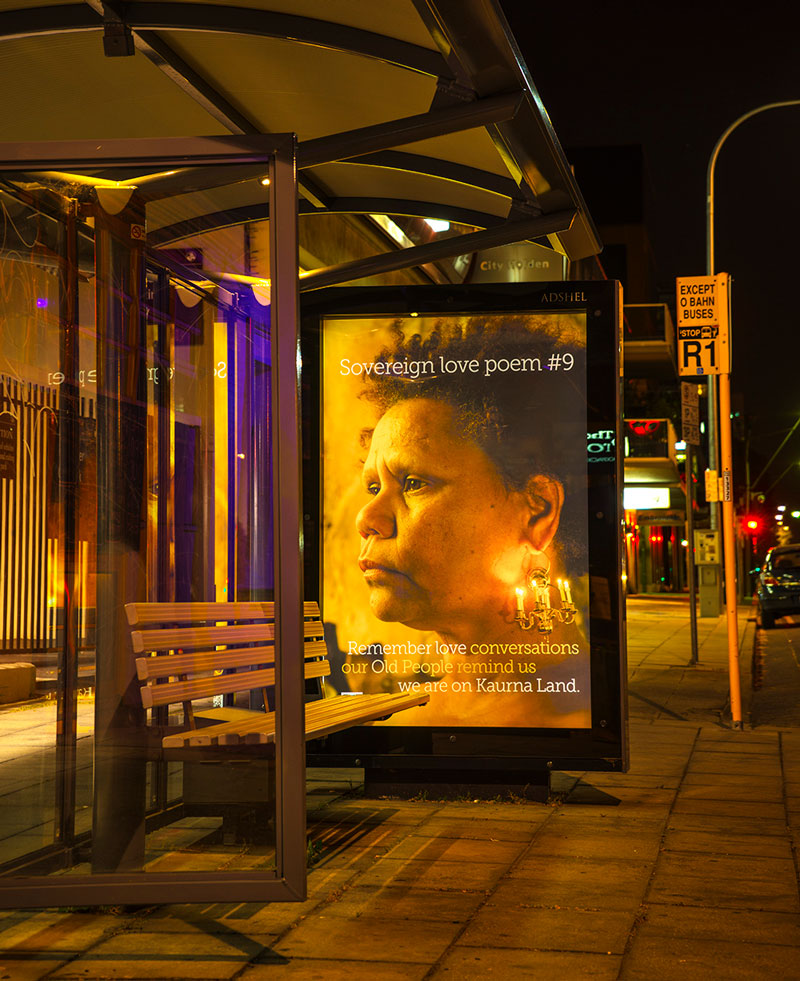 Unbound Collective, bus shelter poster