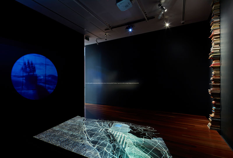 The Unbound Collective, Sovereign Acts V: CALLING, installation view, Samstag Museum of Art, University of South Australia. Photo: Sam Noonan.