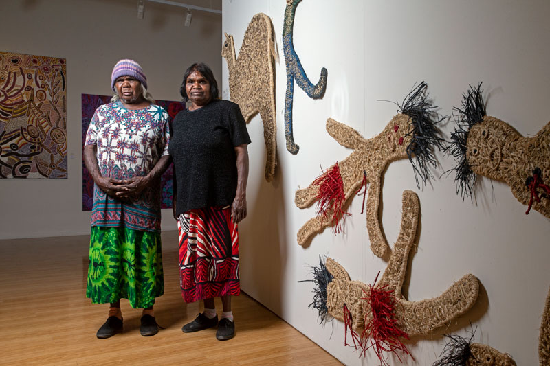 Nancy Jackson and Judith Chambers, Tjampi weavers