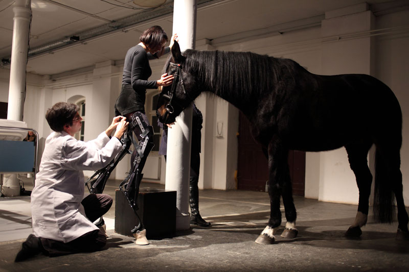 Art Orienté Objet (Marion Laval‐Jeantet and Benoît Mangin), May the Horse Live in Me, 2011, performance at Kapelica Gallery, Ljubljana, Slovenia. Courtesy and © the artist