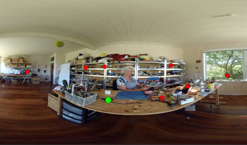 Meet Lisa Walker in her Workshop, 2018, 360-degree view VR artwork. Courtesy Brian Goodwin/I Want to Experience and Museum of New Zealand Te Papa Tongarewa