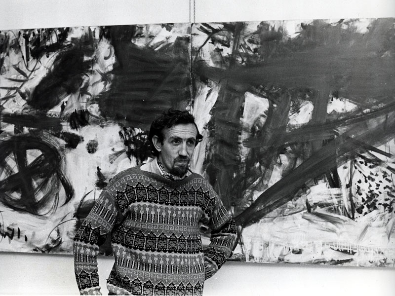 Frank Watters at Tony Tuckson's first exhibition at Watters Gallery in 1970