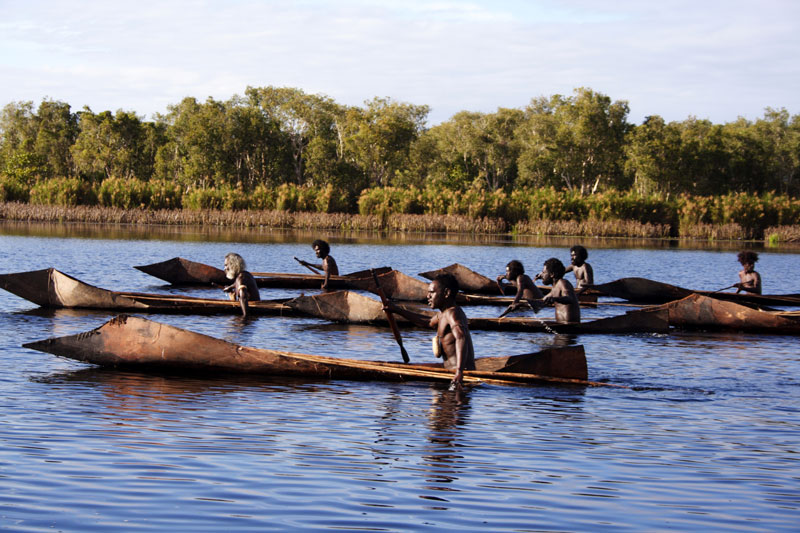 Scene from Ten Canoes (Dir. Rolf de Heer), 2006. Photo: James Geurts