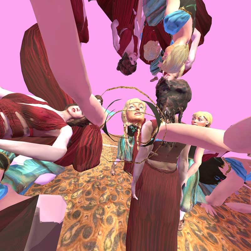 Paul McCarthy, C.S.S.C. Coach Stage Stage Coach VR experiment Mary and Eve, 2017, virtual reality artwork. ©Paul McCarthy and Khora Contemporary. Courtesy the artist, Hauser & Wirth, Xavier Hufkens and Khora Contemporary