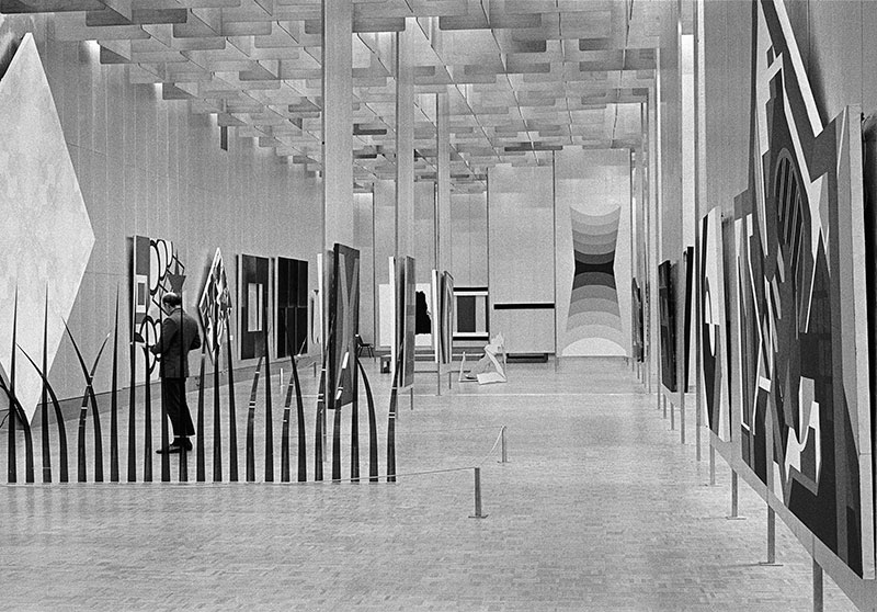 Installation view, The Field, National Gallery of Victoria, 1968