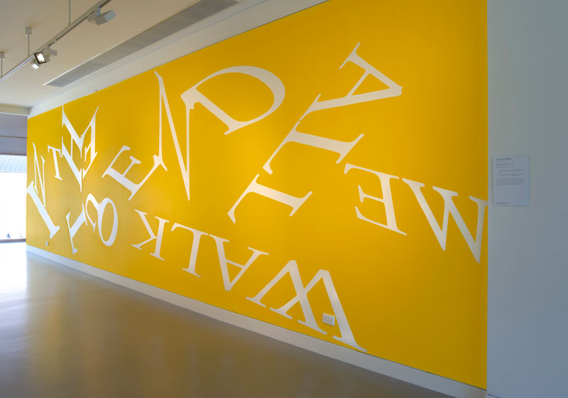 Agatha Gothe-Snape,We All Walk Out in the End,acrylic paint,2012/18.Photo:Carl Warner