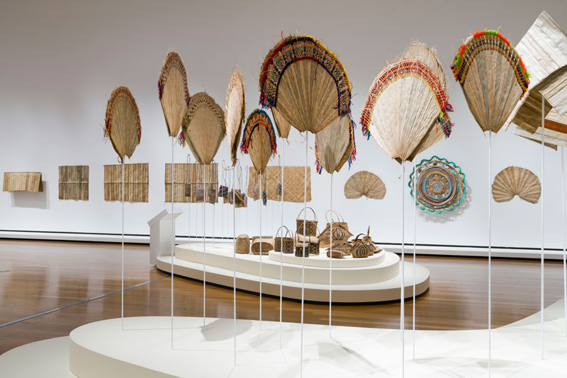 Women's Wealth Project, Nazareth Rehabilitation Centre, Chabai, Autonomous Region of Bougainville. Installation view, 9th Asia Pacific Triennial of Contemporary Art. Courtesy the artists and Queensland Art Gallery | Gallery of Modern Art. Photo: Natasha Harth