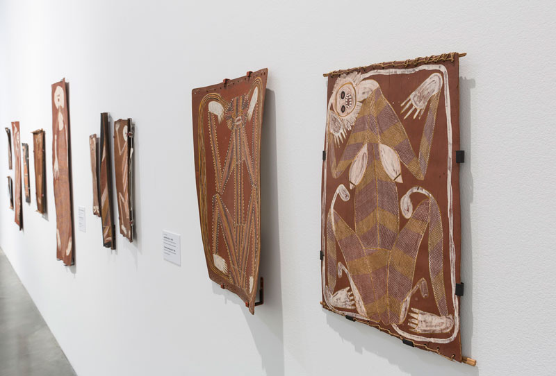 Installation view, John Mawurndjul: I Am the Old and the New, Museum of Contemporary Art Australia. Photo: Jessica Maurer. Courtesy and © the artist