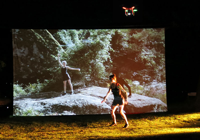 Josephine Starra and Leon Cmielewski, Dancing with Drones at Siteworks, Bundanon