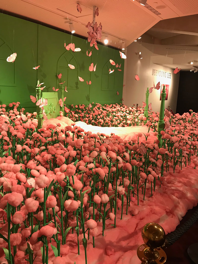 JeeYoung Lee, Secret Garden, 2018, installation view, Adelaide Festival Centre. Photo: Margot Osborne
