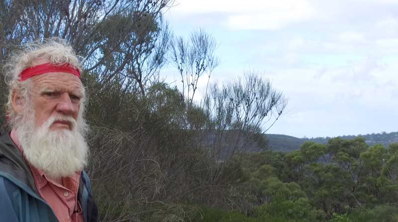 Bruce Pascoe in Ku-ring-gai Chase National Park. Photo: Pauline Clague
