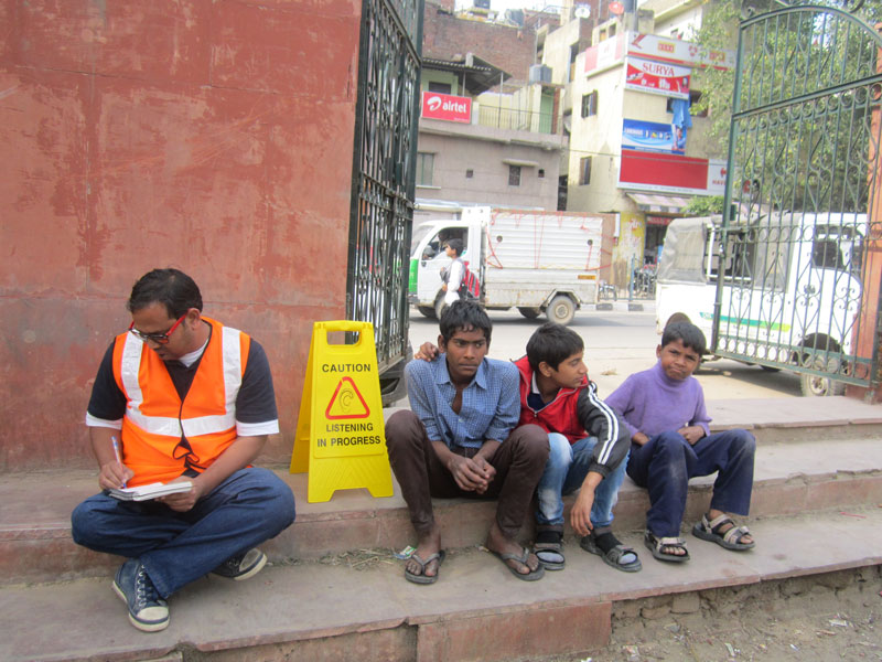 Delhi Listening Group. Listeners At Work, 2013–present, as part of Project Anywhere