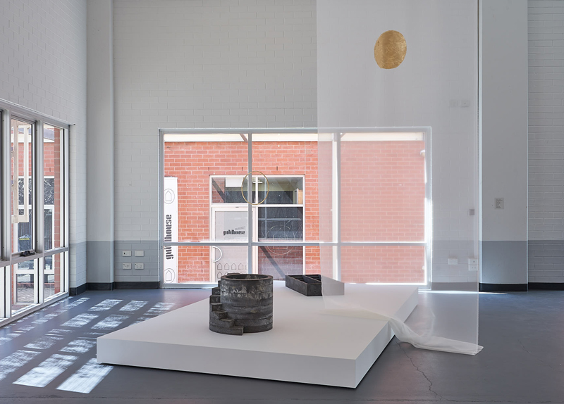 Sundari Carmody, In the Air (Meteoron) (2020), Lightwell 1 (2020), Orbis (2020), Stepwell 1 (2020), exhibition view, ACE Open. Photo: Sam Roberts