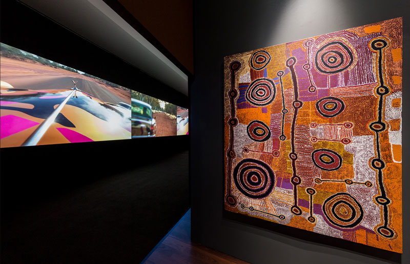 Installation view at Tarnanthi, Art Gallery of South Australia