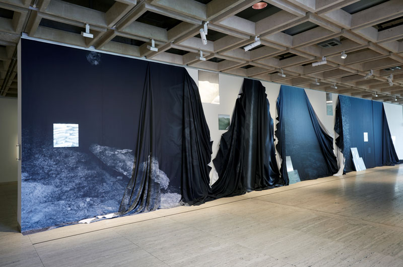 Izabela Pluta, Apparent Distance, 2019, dye-sublimation prints on fabric and photographic prints on aluminium. Installation view, The National 2019, Art Gallery of NSW. Photo: Diana Panuccio. Courtesy the artist and THIS IS NO FANTASY dianne tanzer + nicola stein, Melbourne