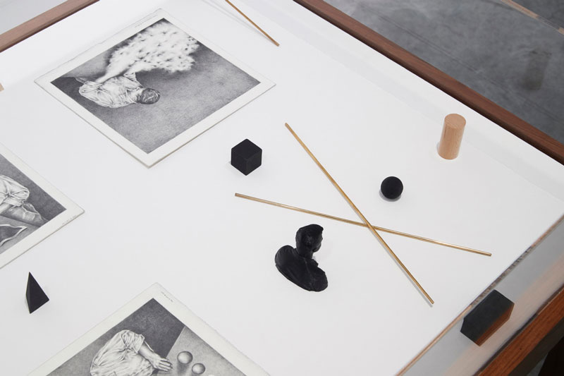 Teo Treloar, The Black Captain_Field Drawing #1, 2018, liquid graphite and graphite powder on paper. Installation view, Museum of Contemporary Art Australia. Courtesy the artist and Andrew Baker Art Dealer, Brisbane