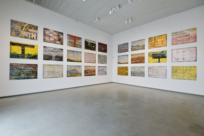 Imants Tillers, Journey to Nowhere, installation view National Museum of Latvia. Photo: Andris Zieds