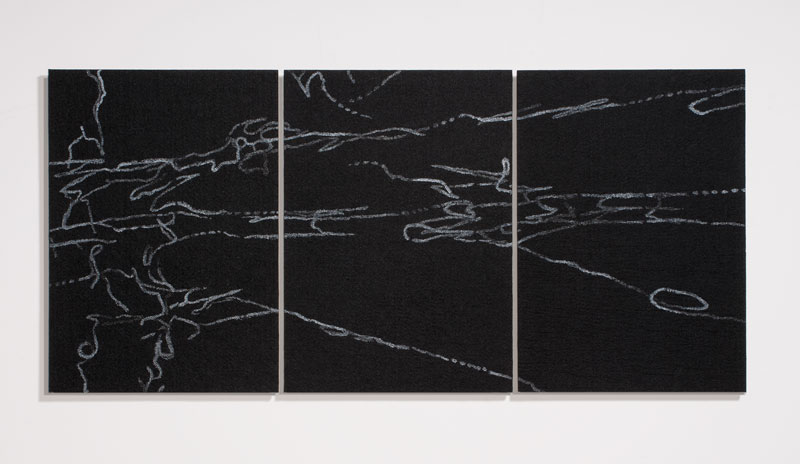 Hossein and Angela Valamanesh, What remains A, 2012, Pearlex powder and gloss medium on stiffened felt. Courtesy the artist and GAGPROJECTS | Greenaway Art Gallery, Adelaide