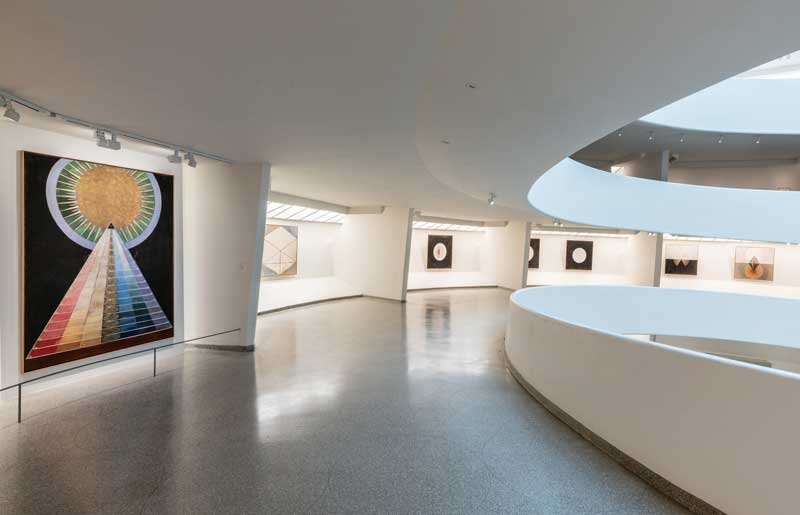 Installation view: Hilma af Klint: Paintings for the Future, Solomon R. Guggenheim Museum, New York, 12 October 2018 – 23 April 2019. Photo: David Heald © 2018 The Solomon R. Guggenheim Foundation