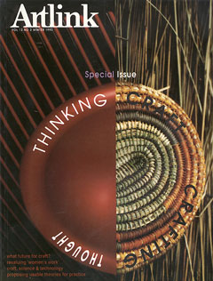 Cover of Thinking Craft, Crafting Thought