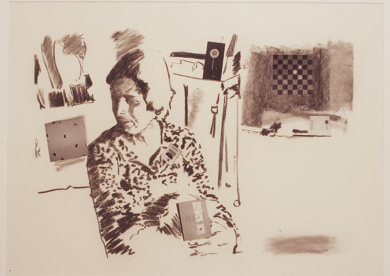 Miriam Stannage Self Portrait, 1978 charcoal and photographic collage Cruthers Collection of Women's Art The University of Western Australia Courtesy the artist's estate